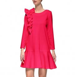 Sukienka w kolorze różowym. Czerwone długie sukienki marki YULIYA BABICH, xs, z dekoltem na plecach, z długim rękawem. W wyprzedaży za 269,95 zł.