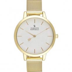 Zegarek kwarcowy w kolorze biało-złotym. Żółte, analogowe zegarki damskie Stylowe zegarki, ze stali. W wyprzedaży za 136,95 zł.