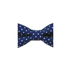 Mucha gotowa bowstyle Niebieska błękitne kropki. Niebieskie muchy męskie Bowstyle, w kropki, z tkaniny. Za 72,00 zł.
