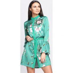 Zielona Sukienka Tasty Pear. Zielone sukienki hiszpanki Born2be, na lato, s, z koszulowym kołnierzykiem, koszulowe. Za 79,99 zł.