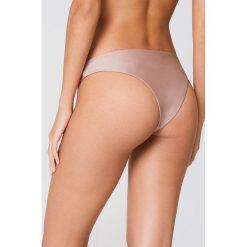 FAYT Dół od bikini Eli - Pink,Nude. Różowe bikini marki FAYT, z haftami. Za 76,95 zł.