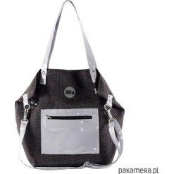 Torba Worek Black & Grey Pocket. Czarne torebki klasyczne damskie Pakamera, z tkaniny. Za 220,00 zł.