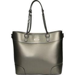 Torba - 153-5-O R ANT. Czarne torebki klasyczne damskie Venezia, ze skóry. Za 359,00 zł.