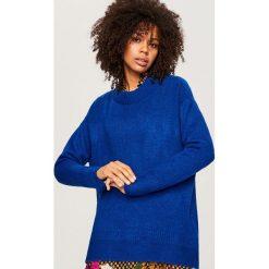 Sweter oversize - Niebieski. Niebieskie swetry oversize damskie marki Reserved, l. Za 79,99 zł.