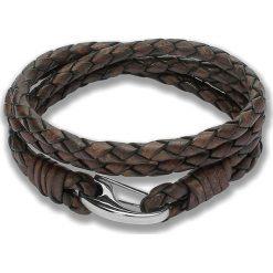 Bransoletki damskie: Skórzana bransoletka w kolorze brązowym