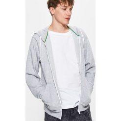 Bluzy męskie: Gładka bluza z kapturem – Jasny szary