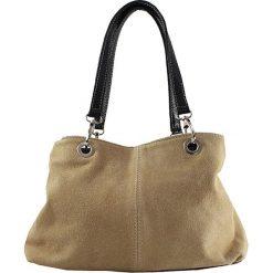 Torebki i plecaki damskie: Skórzana torebka w kolorze szarobrązowym – 32 x 20 x 14 cm