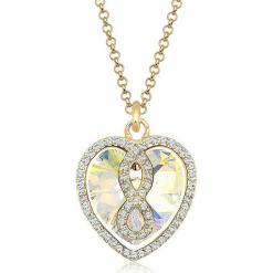 Pozłacany naszyjnik z kryształkami Swarovski - dł. 45 cm. Żółte naszyjniki damskie marki METROPOLITAN, pozłacane. W wyprzedaży za 181,95 zł.