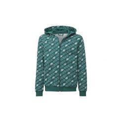 Bluzy Dziecko adidas  Bluza z kapturem Trefoil Monogram. Zielone bluzy chłopięce rozpinane marki Adidas, z kapturem. Za 229,00 zł.
