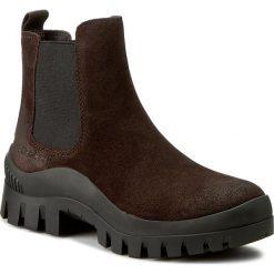 Sztyblety CALVIN KLEIN JEANS - Neva R3488 Mocha. Brązowe buty zimowe damskie Calvin Klein Jeans, z jeansu, na obcasie. W wyprzedaży za 329,00 zł.
