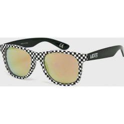 Vans - Okulary VN000LC0PIT1. Szare okulary przeciwsłoneczne męskie lustrzane marki Vans, z materiału, prostokątne. Za 69,90 zł.