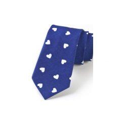 Krawat męski SERCA. Niebieskie krawaty męskie HisOutfit, z materiału. Za 129,00 zł.