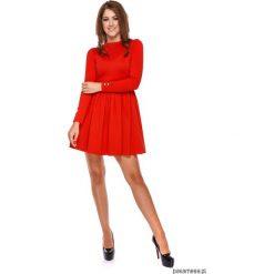 LATORI - Sukienka Damska Rozkloszowana LM31/2. Czerwone sukienki balowe Pakamera, z dzianiny, mini, rozkloszowane. Za 109,00 zł.