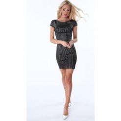 Sukienki hiszpanki: Sukienka metalizowana czarna 386