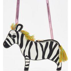 Torebki klasyczne damskie: Torebka zebra na pasku – Biały