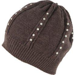 Czapka damska Perłowe dżety brązowa. Białe czapki zimowe damskie marki Art of Polo. Za 39,22 zł.