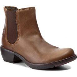 Sztyblety FLY LONDON - Make P142458022 Camel. Brązowe botki damskie skórzane marki NEWFEEL. W wyprzedaży za 309,00 zł.