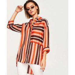 Koszula w paski - Wielobarwn. Szare koszule damskie Reserved, w paski. W wyprzedaży za 69,99 zł.