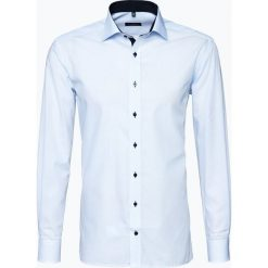 Koszule męskie na spinki: Eterna Modern Fit – Koszula męska niewymagająca prasowania, niebieski
