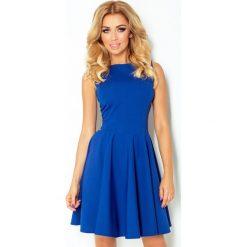 Sukienki: 125-4 sukienka koło - dekolt łódka - cegiełka chabrowa