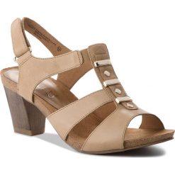 Sandały damskie: Sandały CAPRICE – 9-28309-20 Camel Waxy Nap 352