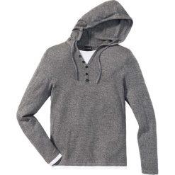 Sweter z kapturem Slim Fit bonprix szary melanż. Czarne swetry klasyczne męskie marki Reserved, m, z kapturem. Za 49,99 zł.