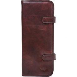 Krawaty męskie: Skórzane etui w kolorze brązowym na krawat - 16,5 x 36 x 1,5 cm