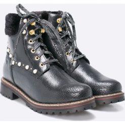 S. Oliver - Botki. Szare buty zimowe damskie marki S.Oliver, z gumy. W wyprzedaży za 199,90 zł.