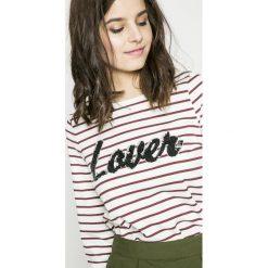 Vero Moda - Bluza Girls. Szare bluzy damskie marki Vero Moda, l, z aplikacjami, z bawełny, bez kaptura. W wyprzedaży za 49,90 zł.