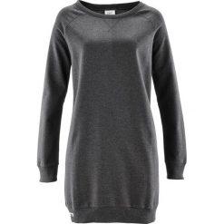Sukienka dresowa bonprix antracytowy melanż. Czarne sukienki dresowe marki bonprix, w kolorowe wzory. Za 74,99 zł.