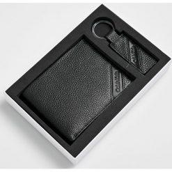 Calvin Klein - Portfel skórzany. Szare portfele męskie marki Calvin Klein, z materiału. Za 349,90 zł.