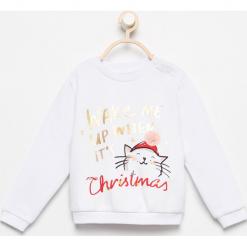 Bluza z nadrukiem - Biały. Czarne bluzy niemowlęce marki Reserved, z napisami. Za 39,99 zł.