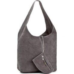 Torebka CREOLE - K10408  Szary. Szare torebki klasyczne damskie Creole, ze skóry. Za 129,00 zł.