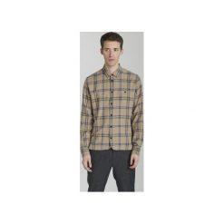 Koszula Strong Beżowa w Kratkę. Brązowe koszule męskie na spinki Delikatessen, l, w kratkę, z gumy. Za 760,00 zł.