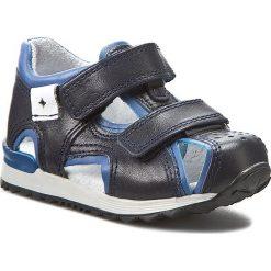 Sandały męskie skórzane: Sandały KORNECKI – 03973 Granat/S