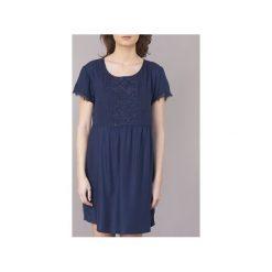 Sukienki krótkie Roxy  DARK TO LIGHT. Niebieskie sukienki mini marki Roxy, l, z krótkim rękawem. Za 247,20 zł.