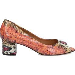 Buty ślubne damskie: Multikolorowe czółenka peep toe