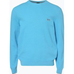 BOSS Athleisurewear - Sweter męski – Ranja, niebieski. Niebieskie swetry klasyczne męskie BOSS Athleisurewear, m, z bawełny. Za 549,95 zł.