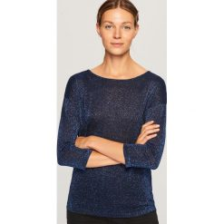 Sweter z wiązaniem z tyłu - Granatowy. Niebieskie swetry klasyczne damskie Reserved, l. Za 59,99 zł.