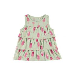 Name it  Girls Sukienka Vigga dusty aqua - zielony - Gr.Moda (6 - 24 miesięcy ). Zielone sukienki niemowlęce marki Name it, na lato, z bawełny, bez rękawów. Za 29,00 zł.