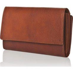 Skórzany portfel w kolorze brązowym - 10 x 18 x 3 cm. Brązowe portfele damskie I MEDICI FIRENZE, ze skóry. W wyprzedaży za 211,95 zł.
