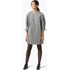 Tommy Hilfiger - Sukienka damska – Janet, szary. Szare sukienki z falbanami marki TOMMY HILFIGER, w kratkę. Za 849,95 zł.