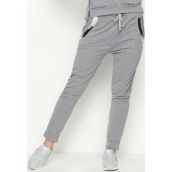 Spodnie dresowe damskie: Szare Spodnie Dresowe Goldroom