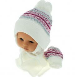 Czapka niemowlęca z szalikiem i rękawiczkami CZ+S+R 013A. Szare czapeczki niemowlęce Proman. Za 45,90 zł.