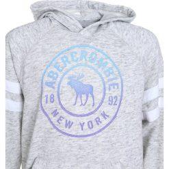 Abercrombie & Fitch SPORTY Bluza z kapturem grey. Szare bluzy dziewczęce rozpinane Abercrombie & Fitch, z bawełny, z kapturem. Za 169,00 zł.