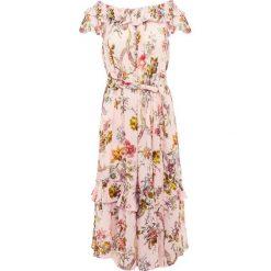 Sukienki hiszpanki: Needle & Thread RAINBOW ROSE TIERED  Sukienka letnia pink