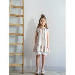 Sukienki dziewczęce: MARY Sukienka z białą, plisowaną falbanką
