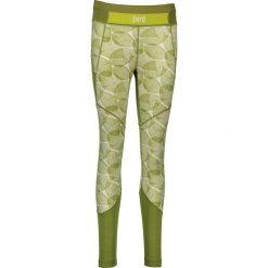 Legginsy sportowe damskie: Sportowe legginsy w kolorze zielono-białym