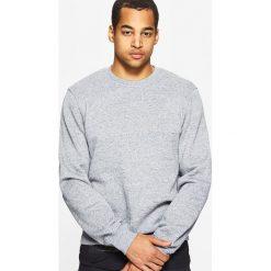 Bluzy męskie: Gładka bluza basic - Jasny szary
