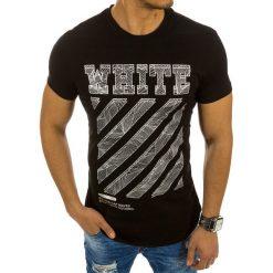 T-shirty męskie z nadrukiem: T-shirt męski z nadrukiem czarny (rx2142)